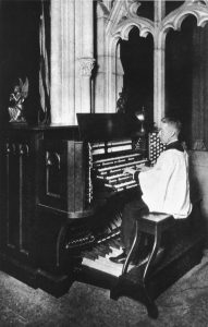 Ernest Mitchell at Organ Console