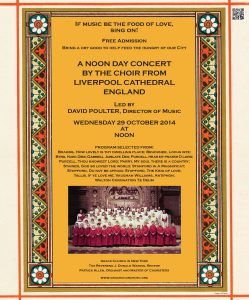 Liverpool Cathedral concert POSTER 291014